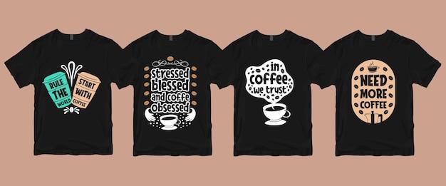 Pacote de camisetas de café