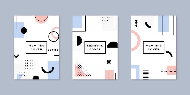 Pacote de capa de design de memphis