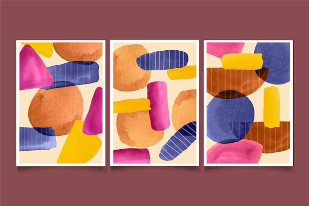 Pacote de capa em aquarela abstrata