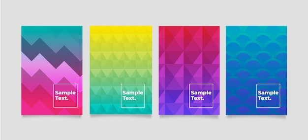 Pacote de capa geométrica abstrata colorida