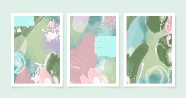 Pacote de capas abstratas em aquarela