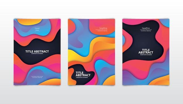 Pacote de capas coloridas abstratas