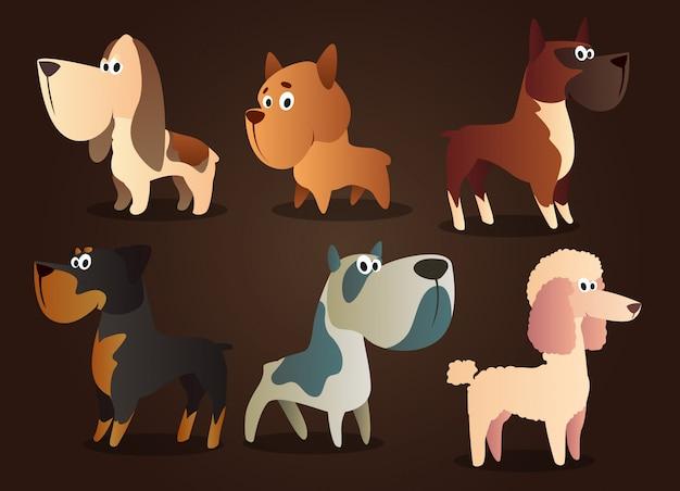 Pacote de caracteres do cão
