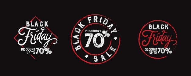 Pacote de carimbo de distintivo de sexta-feira negra