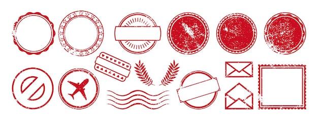 Pacote de carimbo postal conjunto vazio de moldura de carimbo postal