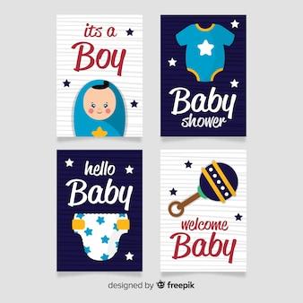 Pacote de cartão de chá de bebê