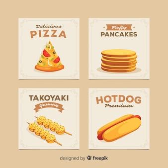 Pacote de cartão de comida saborosa