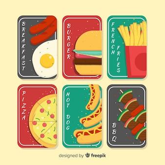 Pacote de cartão de fast food