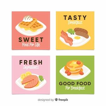 Pacote de cartão de pratos de comida