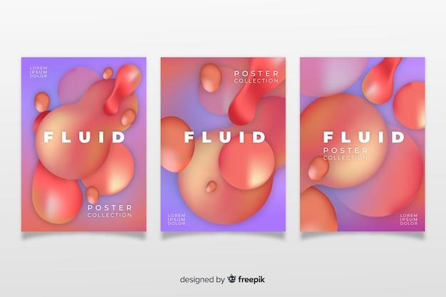 Pacote de cartaz de formas dinâmicas