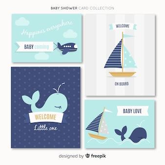 Pacote de cartões de chá de bebê