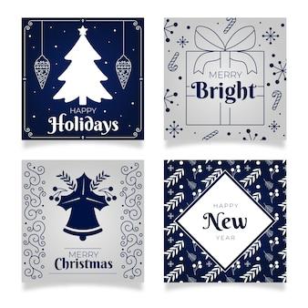 Pacote de cartões de natal e ano novo
