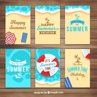 Pacote de cartões de verão