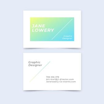Pacote de cartões de visita com gradiente pastel