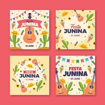 Pacote de cartões festa junina