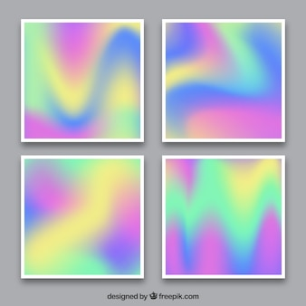 Pacote de cartões holográficos