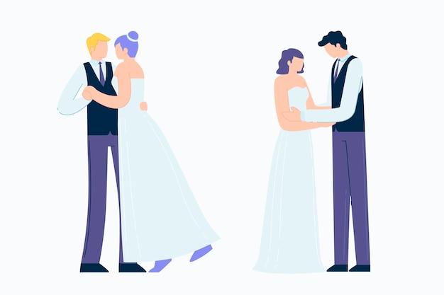 Pacote de casais de casamento
