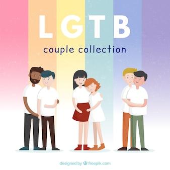 Pacote de casal de orgulho lgtb