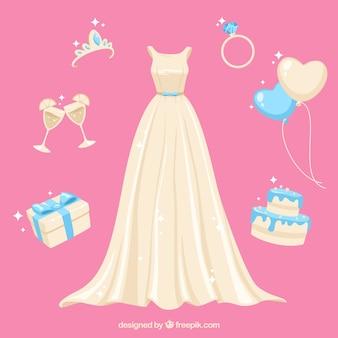 Pacote de casamento com acessórios diferentes
