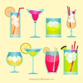 Pacote de cocktails de verão