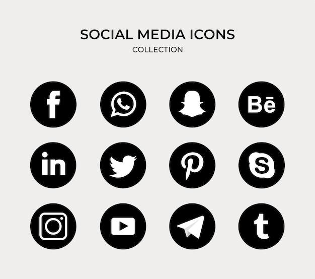 Pacote de coleção de logotipo de mídia social