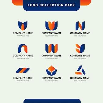 Pacote de coleção de logotipo para inicialização de negócios da empresa