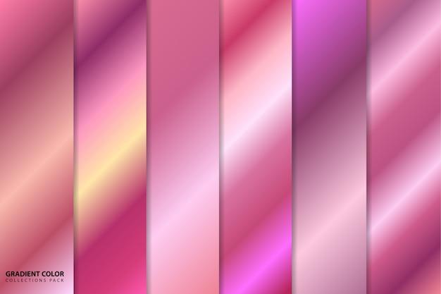 Pacote de coleções de cor gradiente ouro rosa