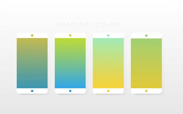 Pacote de coleções de cores gradientes