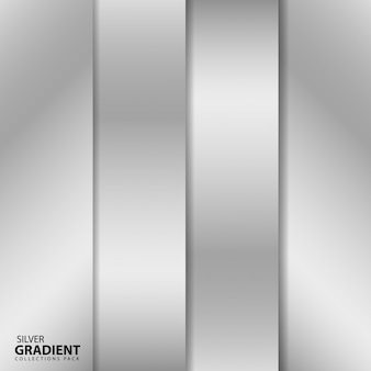 Pacote de coleções de gradiente de prata