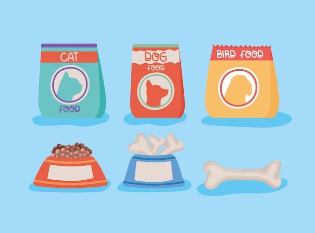 Pacote de comida para animais de estimação