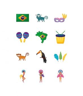 Pacote de conjunto de ícones de variedade