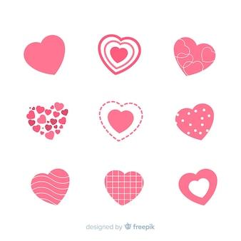Pacote de coração liso