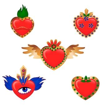 Pacote de coração sagrado