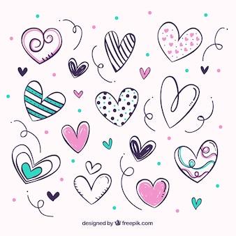 Pacote de corações bonitos