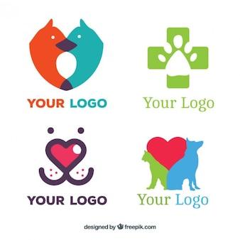 Pacote de cores logos veterinário