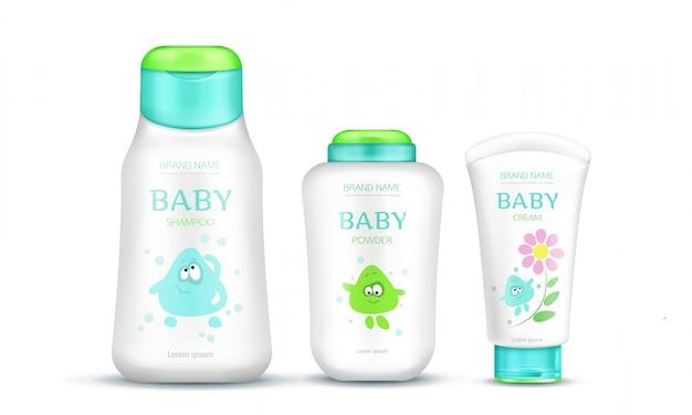 Pacote de cosméticos de bebê para crianças