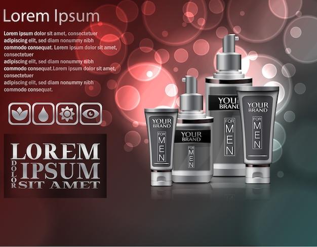 Pacote de cosméticos para homens
