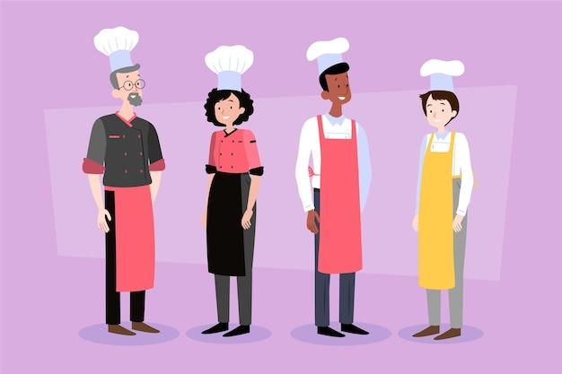 Pacote de cozinheiros de comida