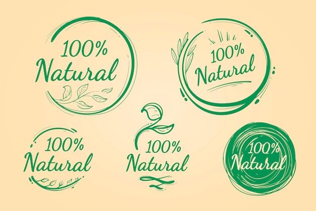 Pacote de crachás cem por cento natural