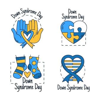 Pacote de crachás do dia mundial da síndrome de down