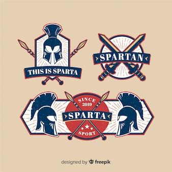 Pacote de crachás espartanos