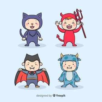 Pacote de crianças de halloween