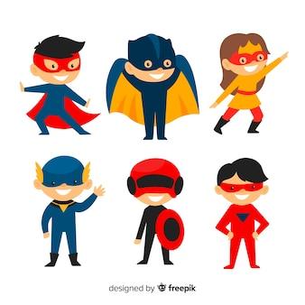 Pacote de crianças de super-heróis