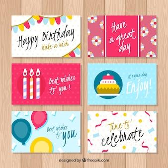 Pacote de cumprimentos de aniversário lindos