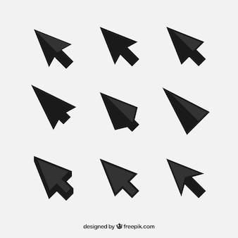 Pacote de cursor preto