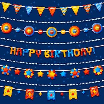 Pacote de decoração de aniversário