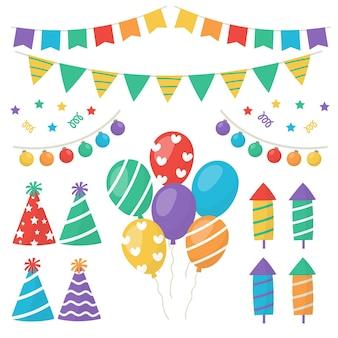Pacote de decorações de aniversário