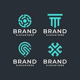 Pacote de design de logotipo abstrato