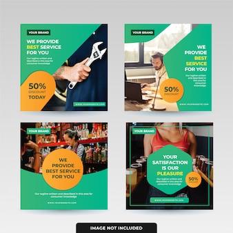 Pacote de design de modelo de postagem de mídia social
