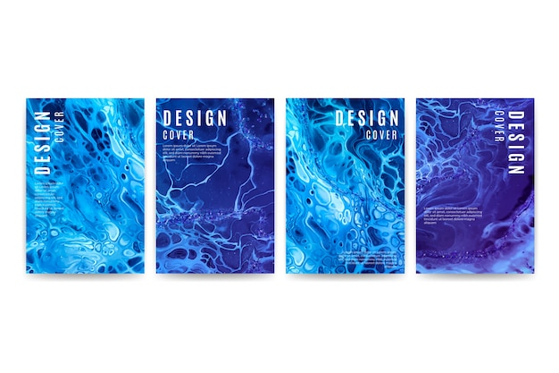 Pacote de diferentes designs de capa